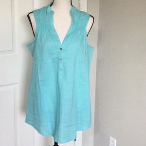 Lauren James blue tank new with tags xl